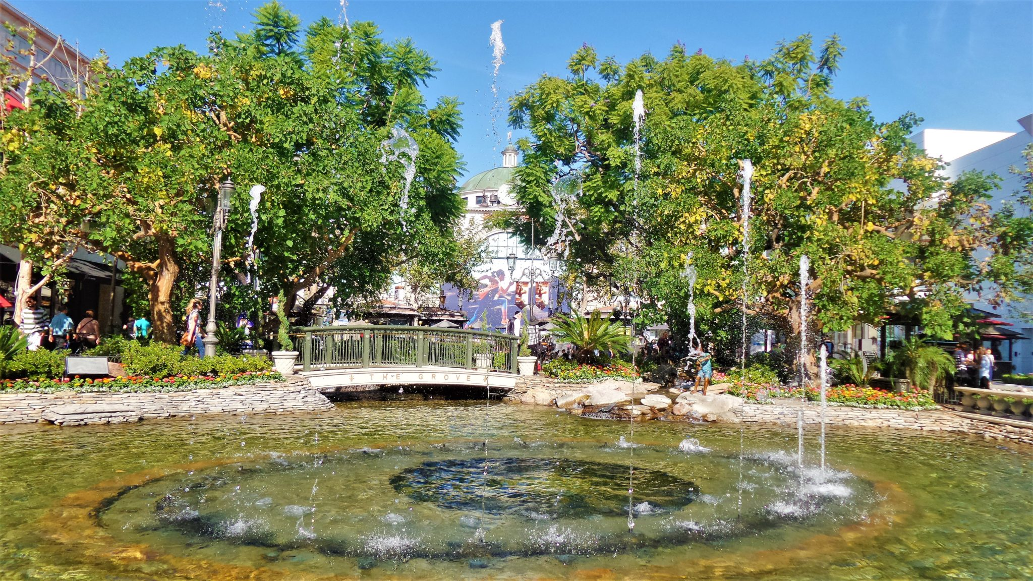 The Grove water fountains, things to do in los angeles