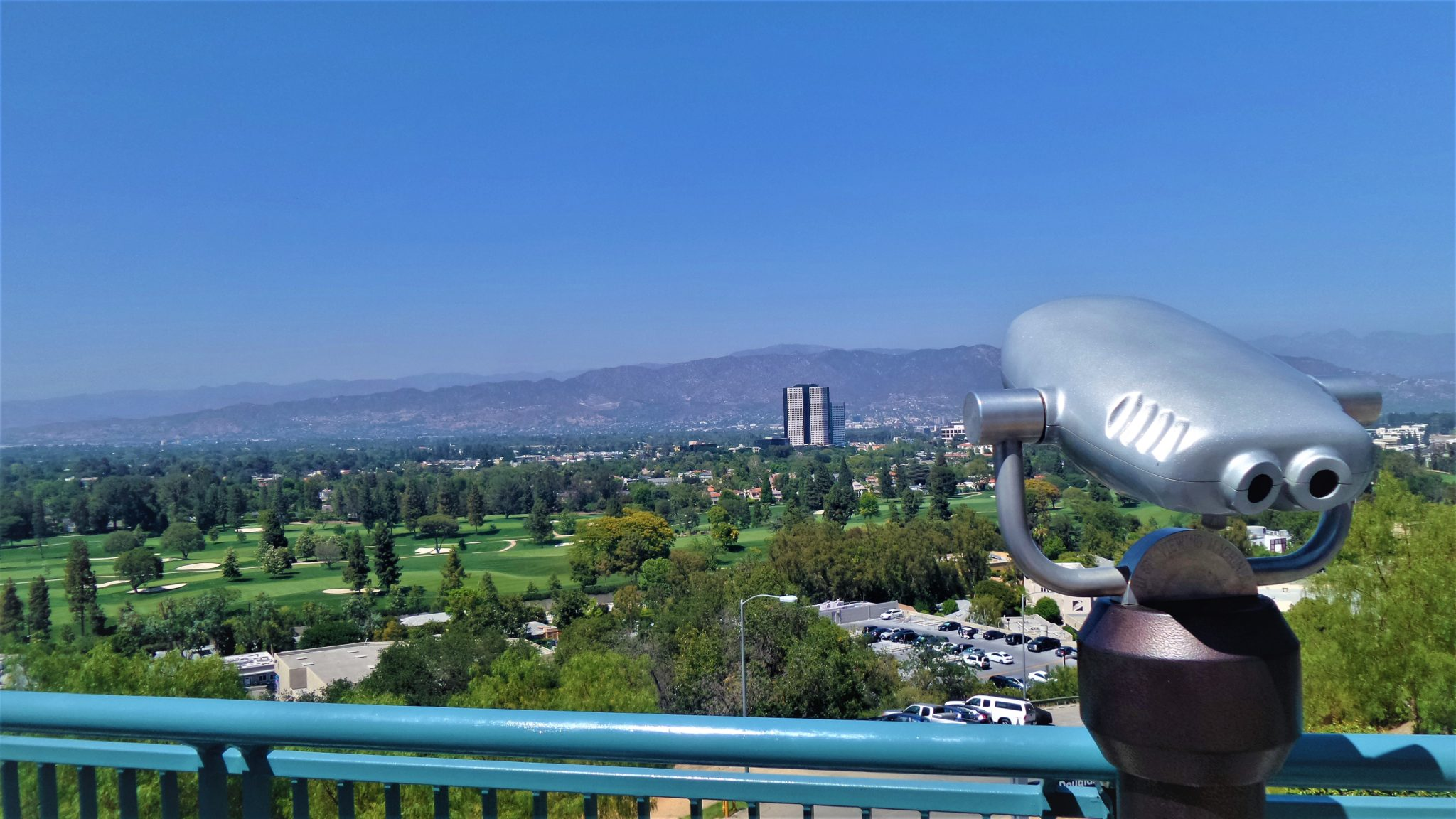 View of Hollywood Hills from universal studios hollywood