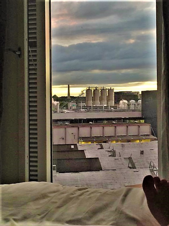 View of guinness brewery from aparto binary hub bedroom dublin