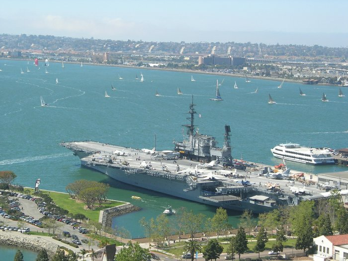 Aircraft Carrier San Diego Bay, California