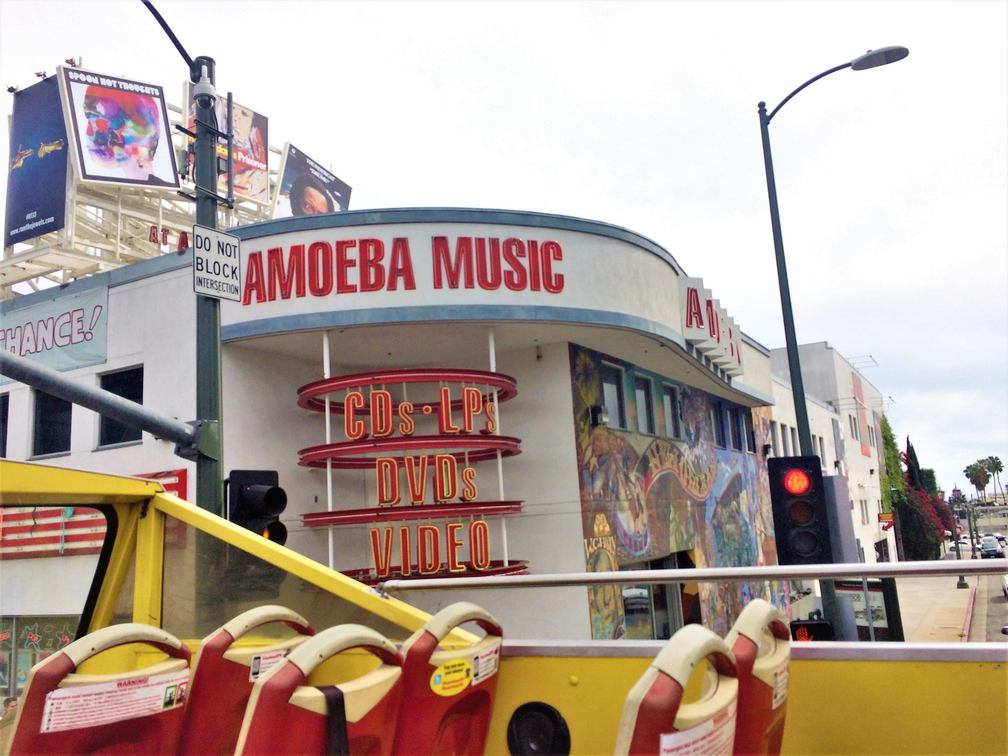 Ameoba Music, hop on hop off bus los angeles