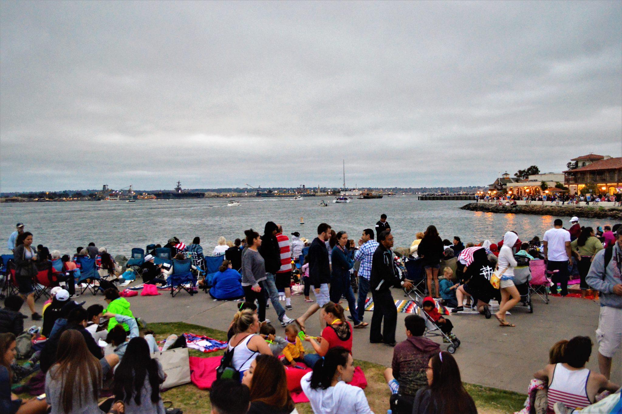Big Bay Boom in San Diego spectators, California, 4th July
