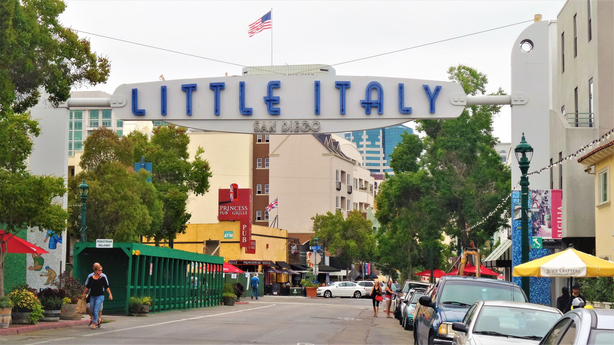 Little Italy sign, things to do in San Diego, California