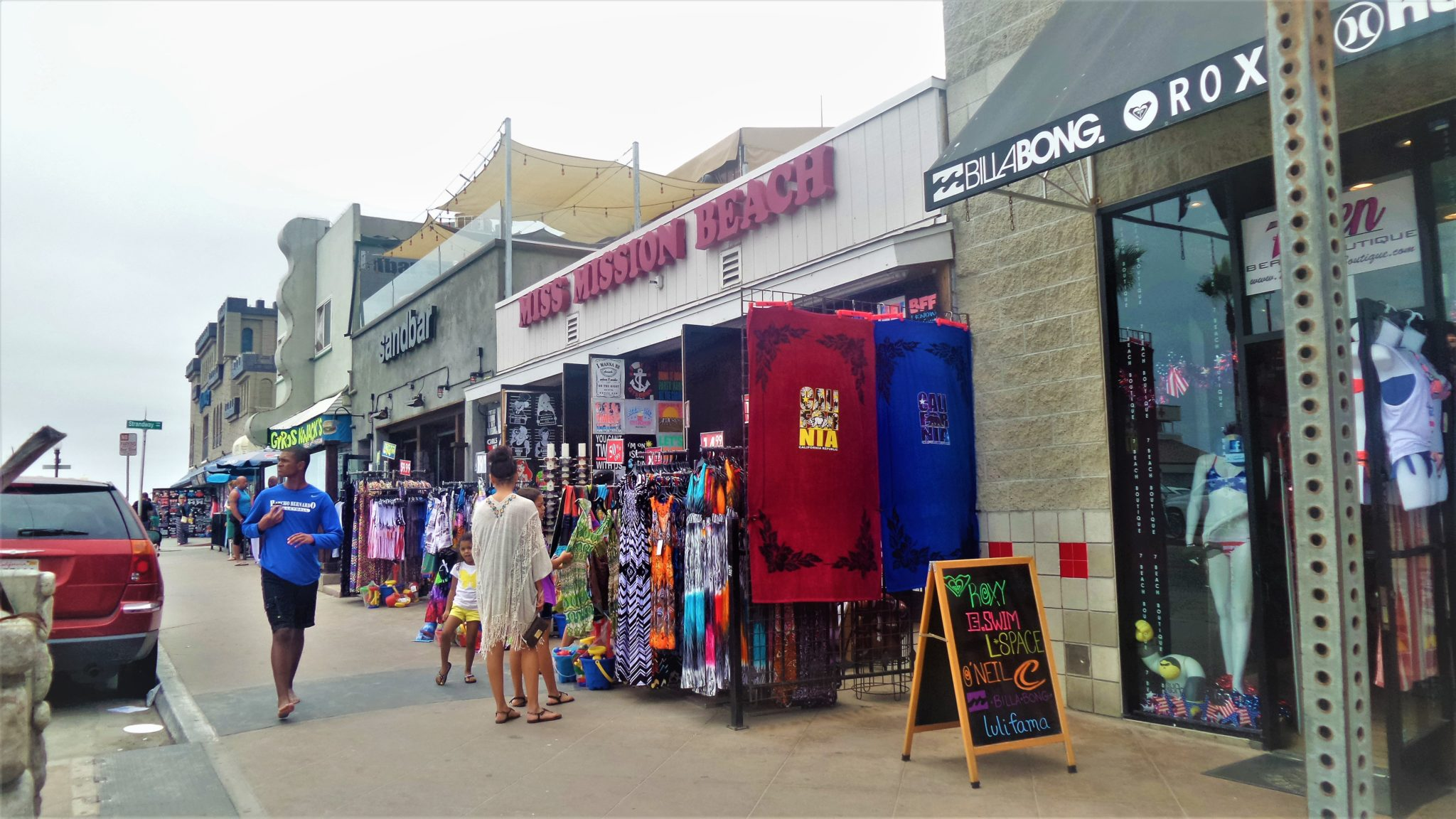 Mission Beach shops, things to do in San Diego, California