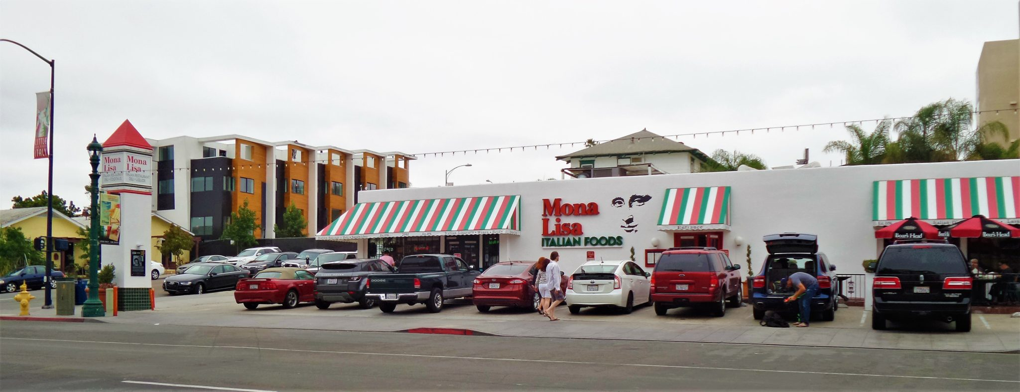Mona Lisa restaurant, Little Italy, things to do in San Diego, California