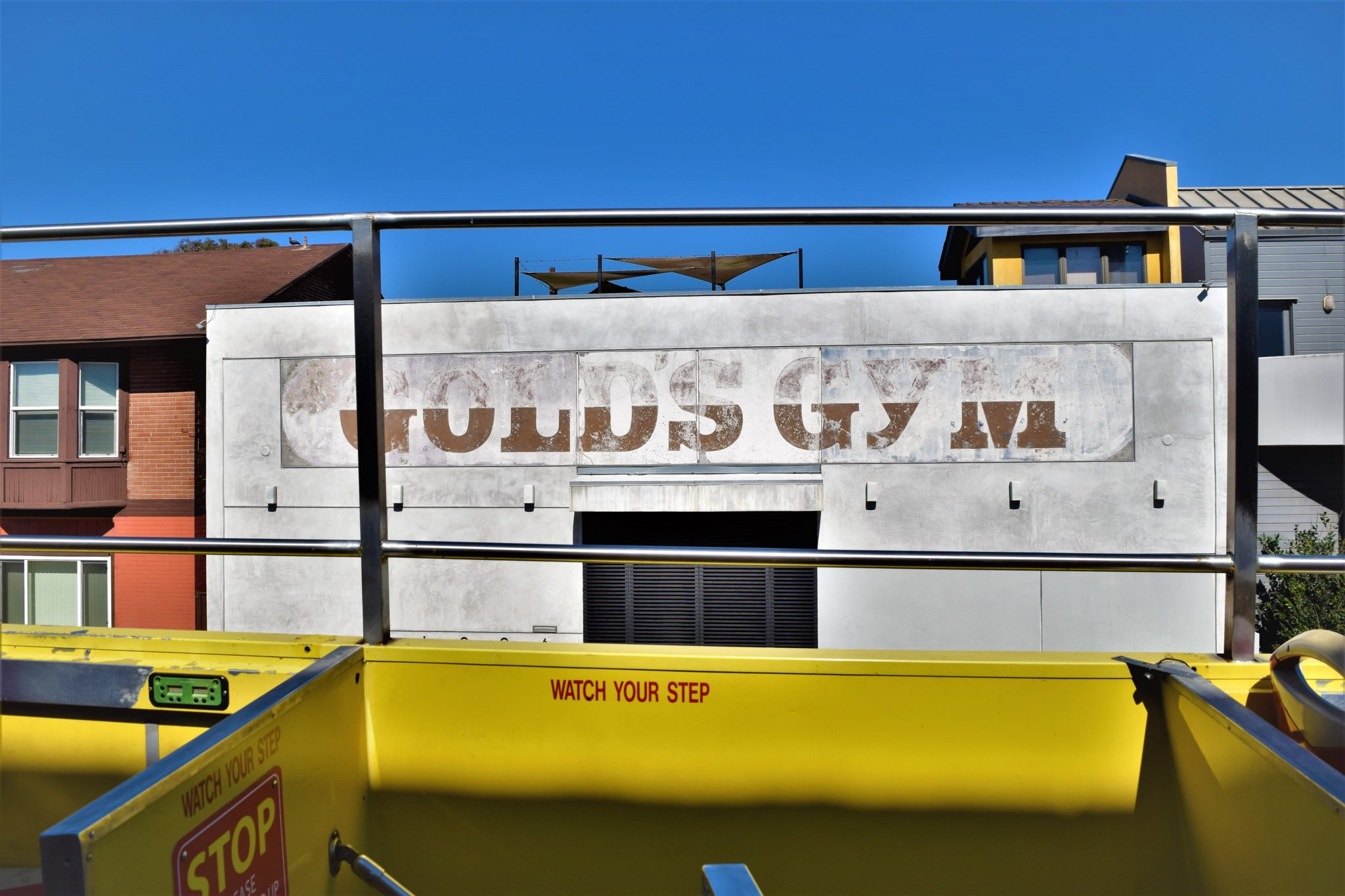 Old Gold's Gym venice beach, hop on hop off bus los angeles