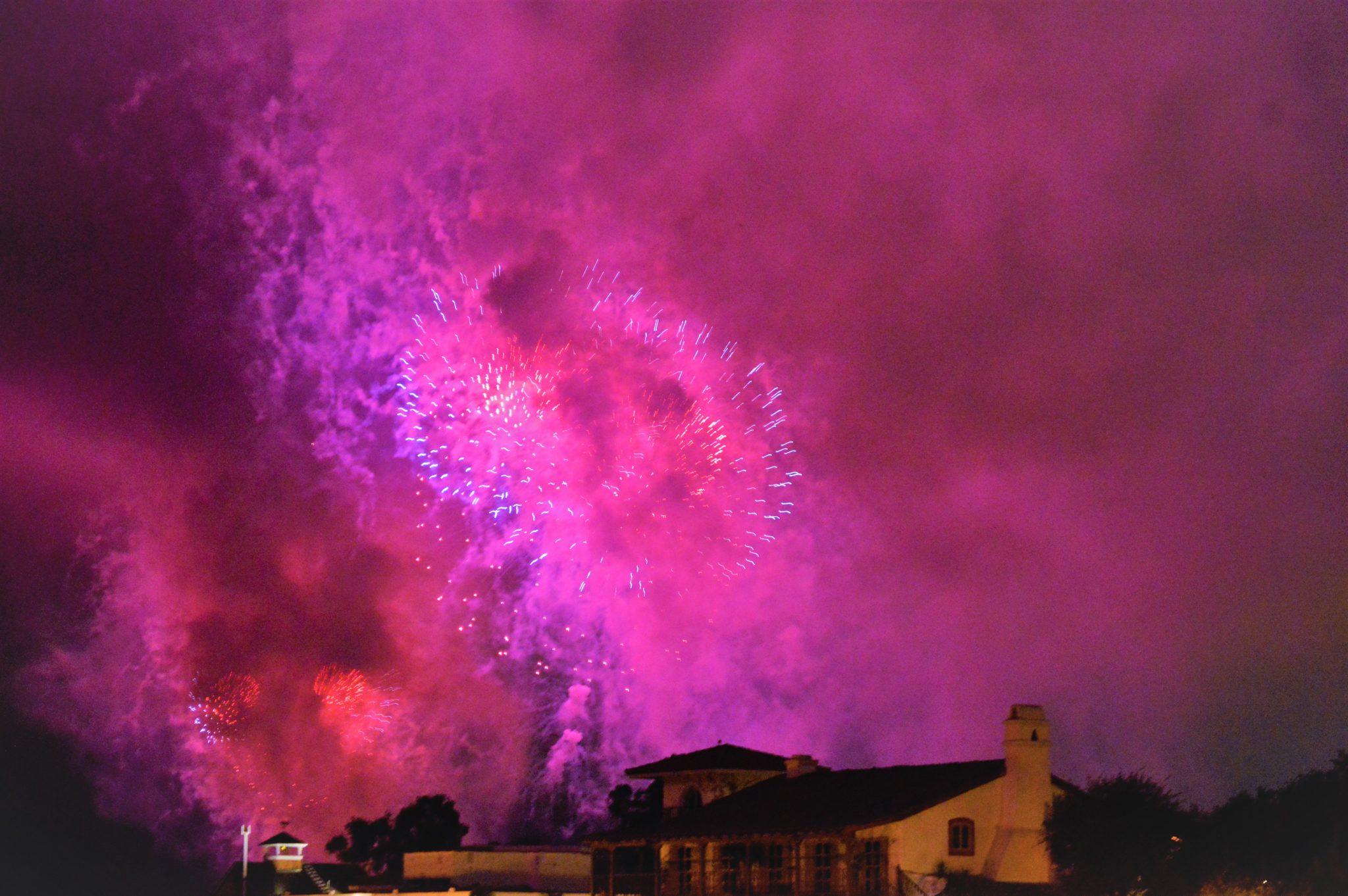 Purple fireworks, Big Bay Boom, 4th July in San Diego