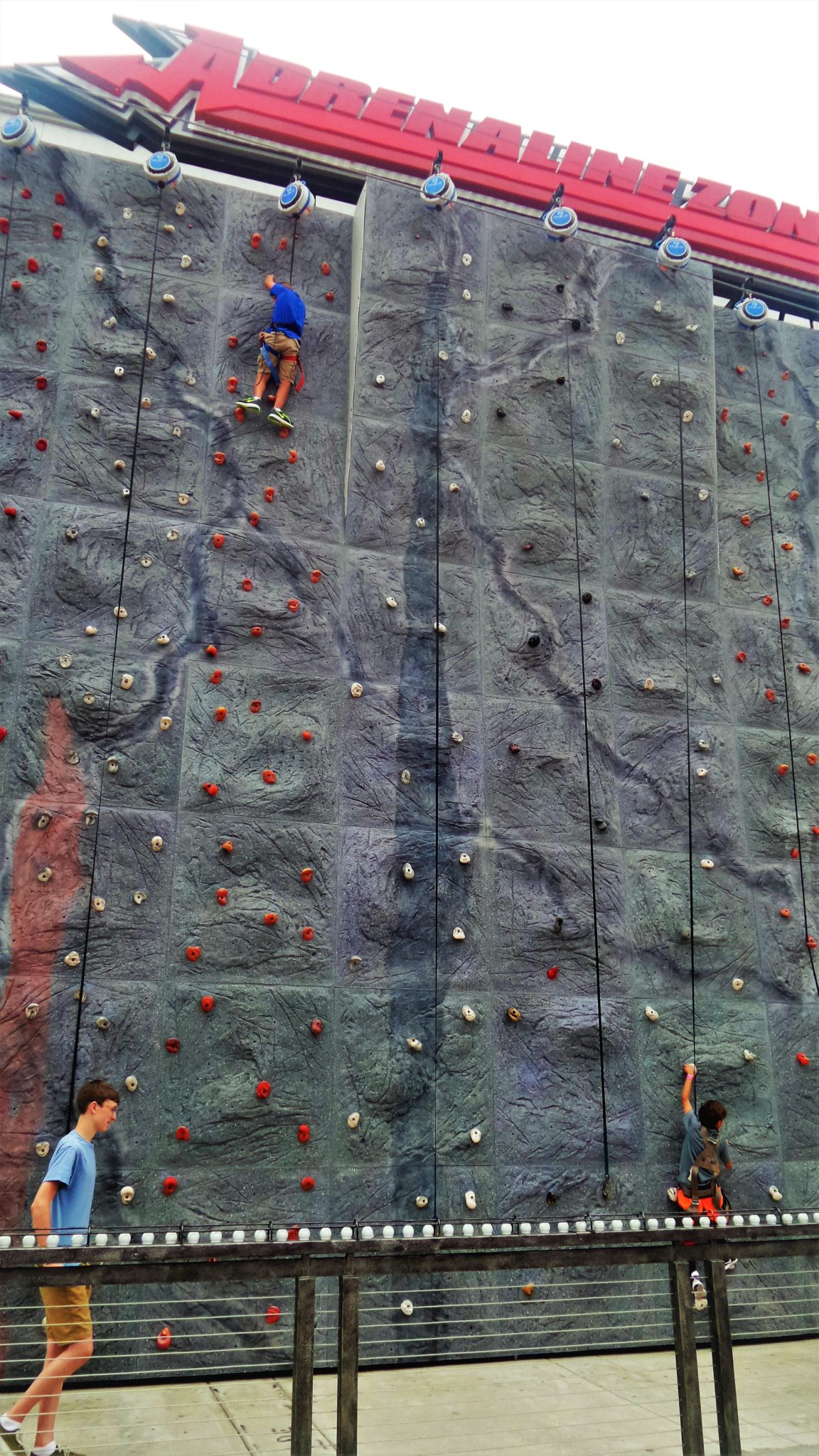 Rock Climbing at Belmont Park, Mission Beach, San Diego