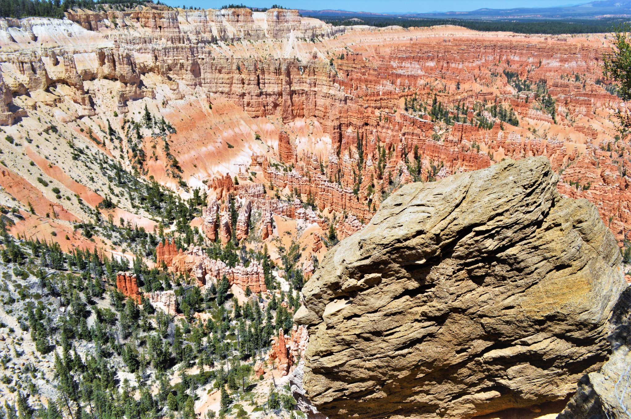 Rocks at bryce canyon's bryce point, usa