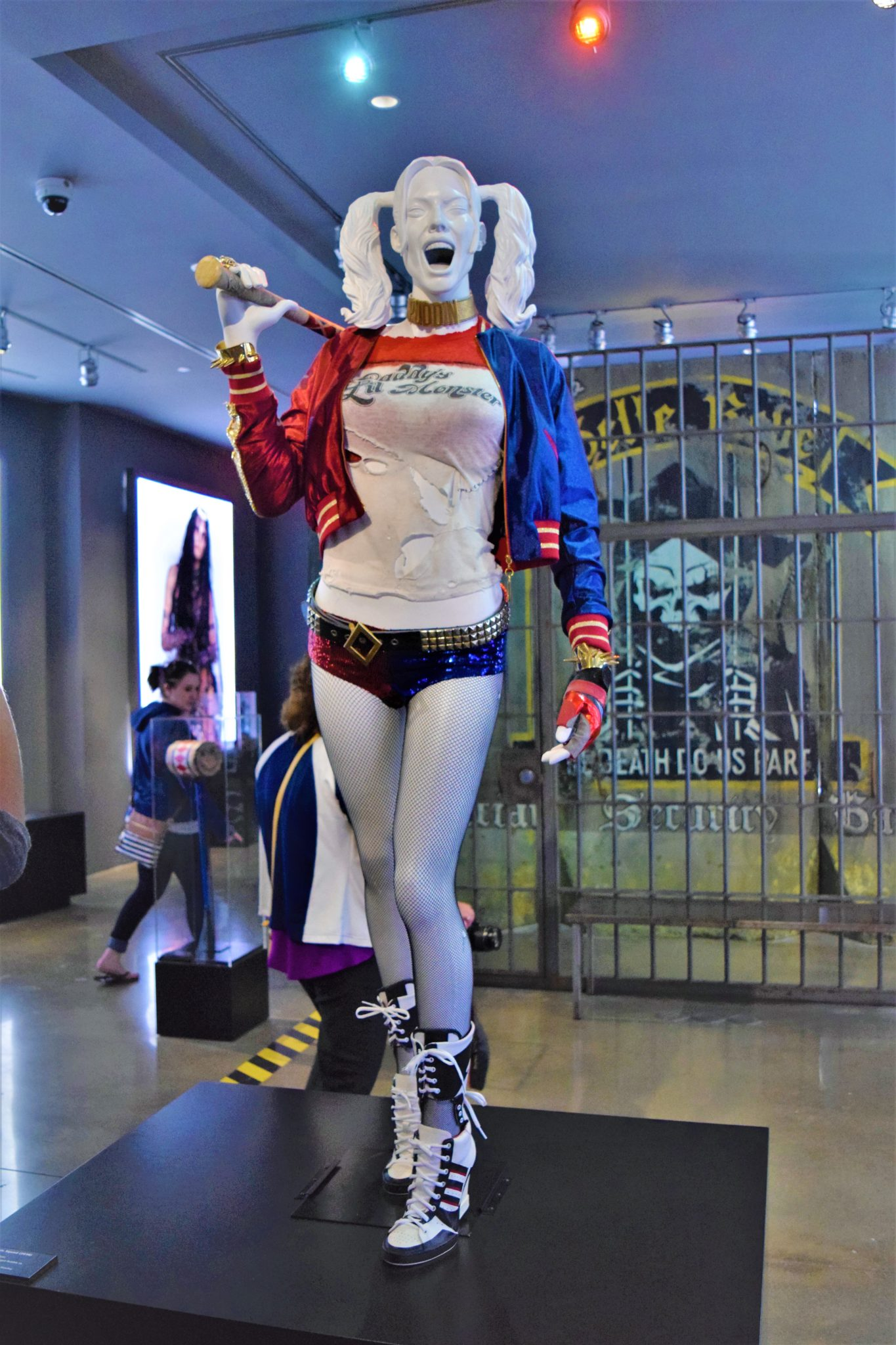 Suicide Squad costumes and props Warner Brothers Studios, Los Angeles