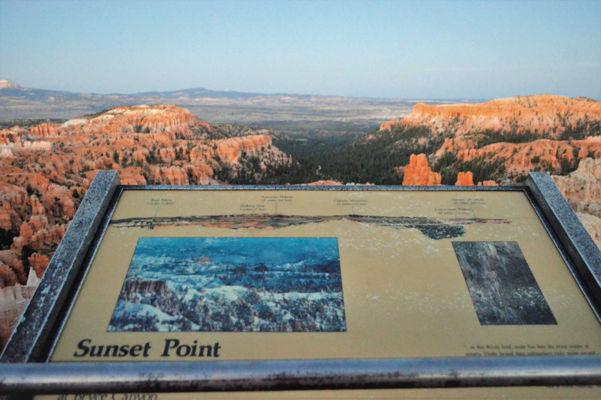 Sunset point in bryce canyon national park, usa