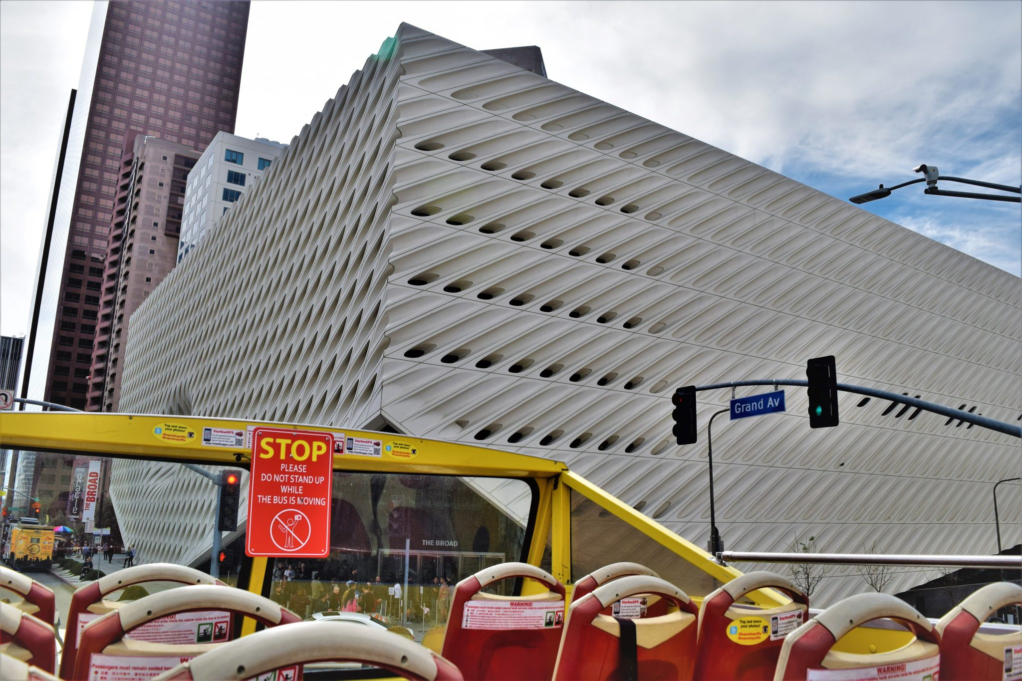 The Broad, hop on hop off bus los angeles