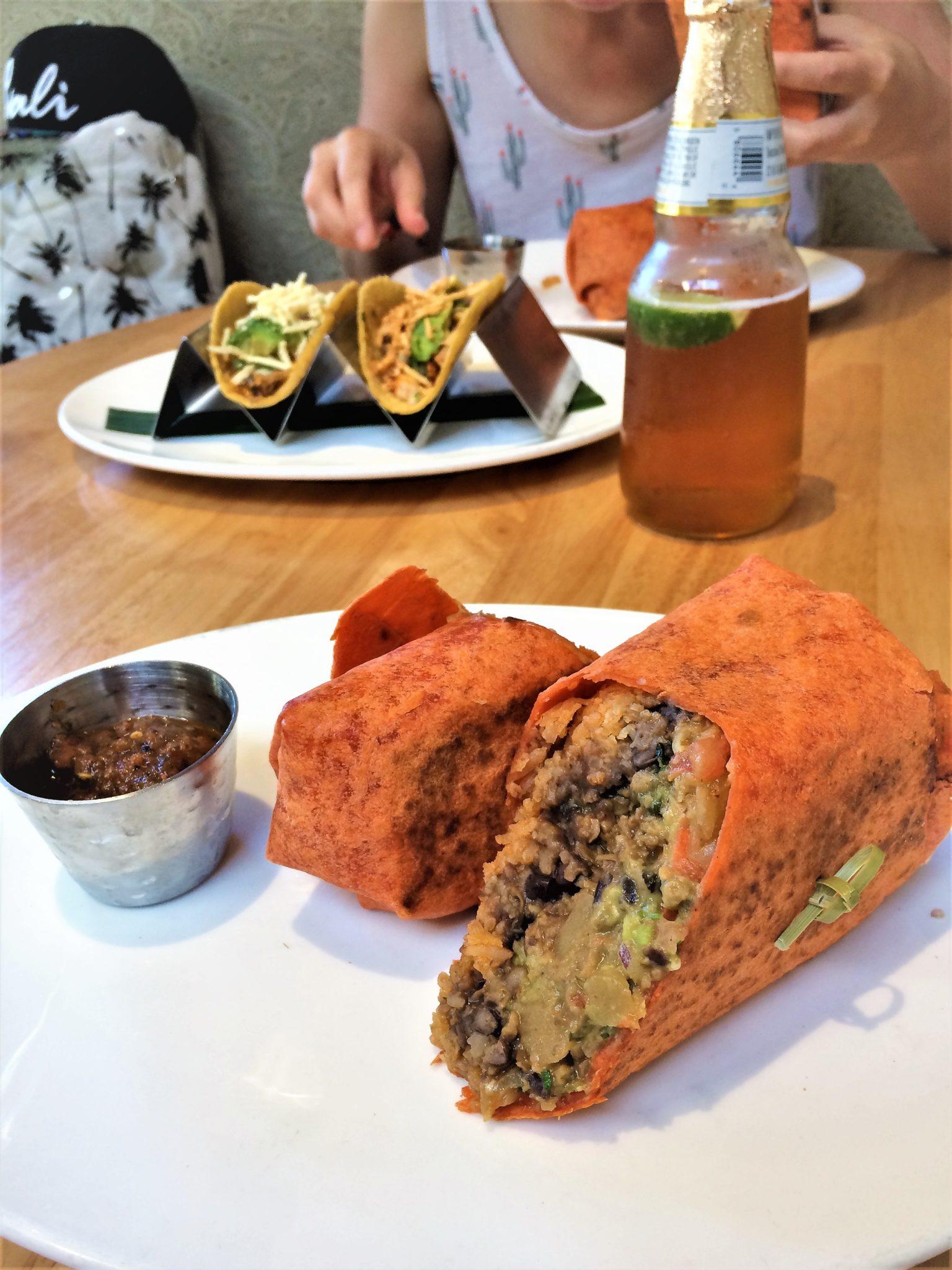 Vegan restaurants Los Angeles, Tocaya Organica, California, burrito