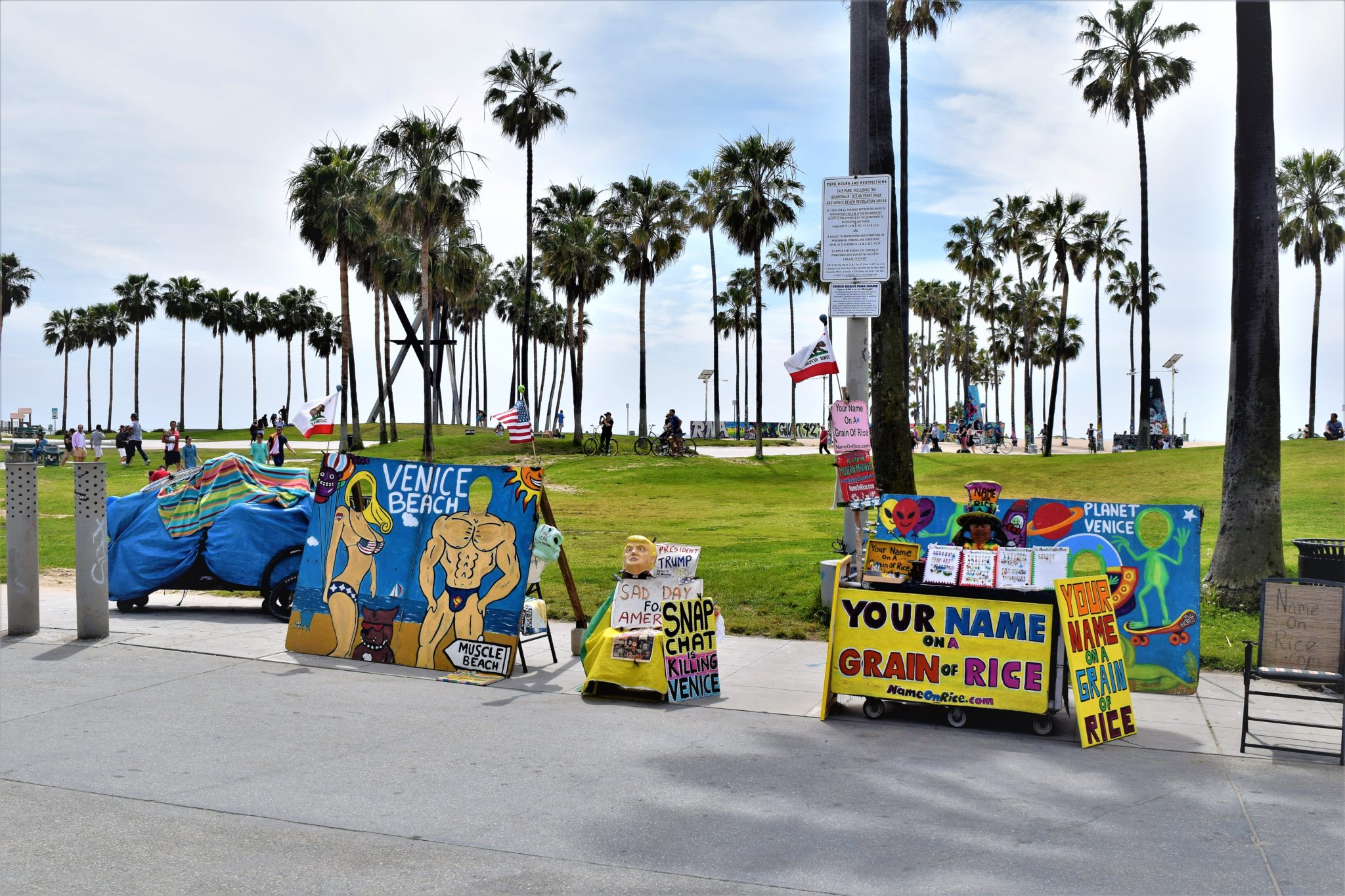 Venice beach, hop on hop off bus los angeles, california