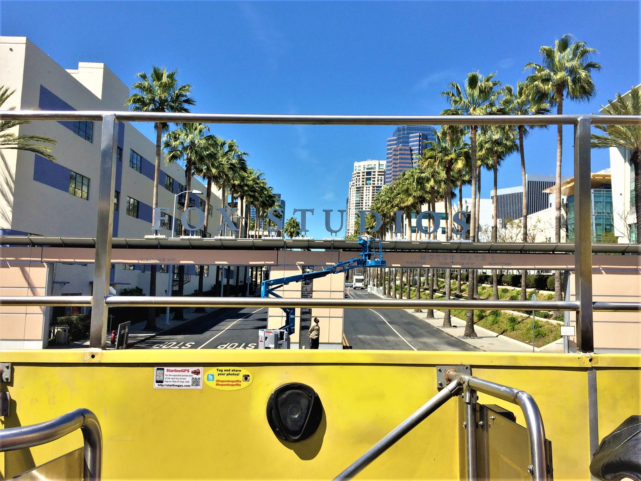 View of Fox Studios Los Angeles Hop on hop off bus, california