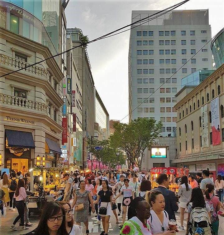 South Korea busy street