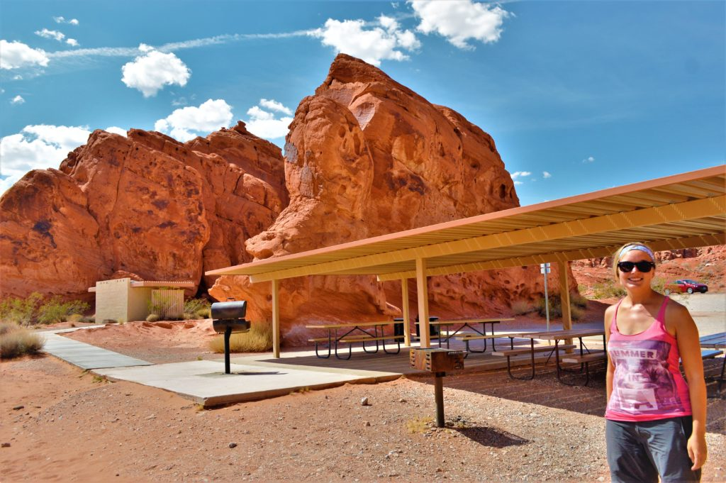 BBQ facilities at valley of fire state park, utah