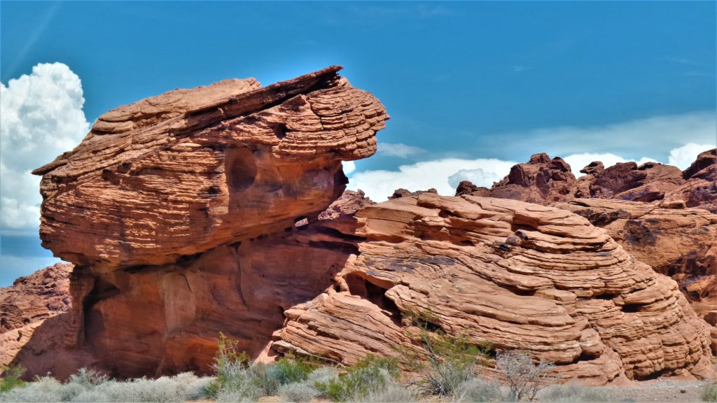 Beehive rock formations, valley of fire, utah