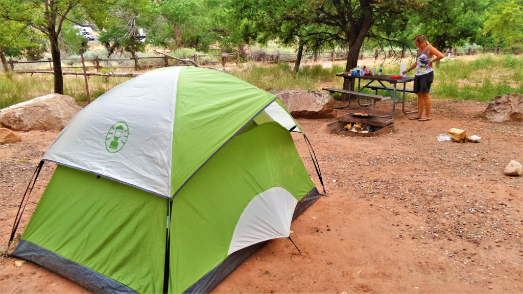 Camping in Zion National Park, Utah