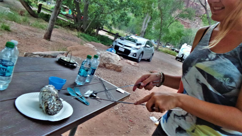 Cooking, fire pit, ,Zion National Park, Utah