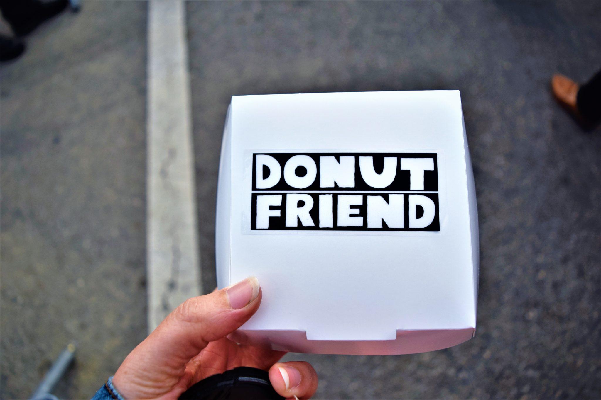 Donut Friend box, vegan donuts, vegan food in los angeles