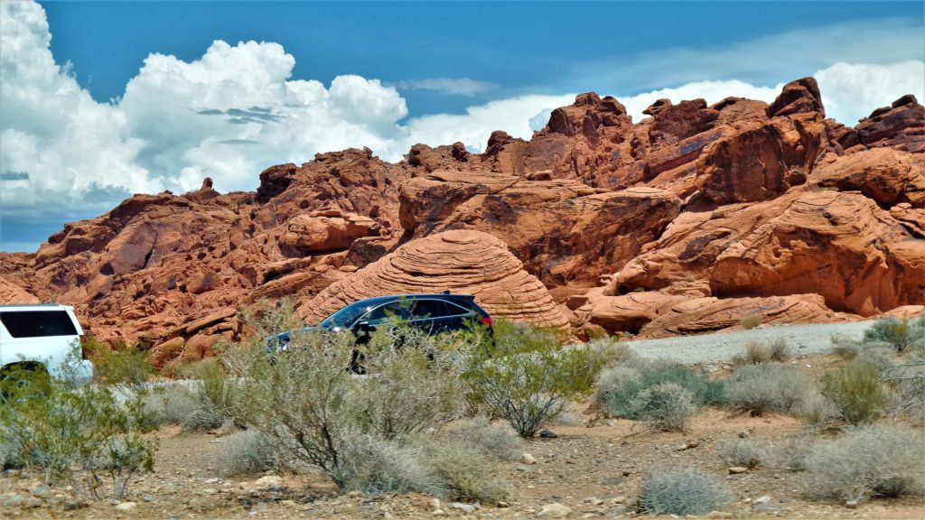 Driving by the beehives valley of fire state park
