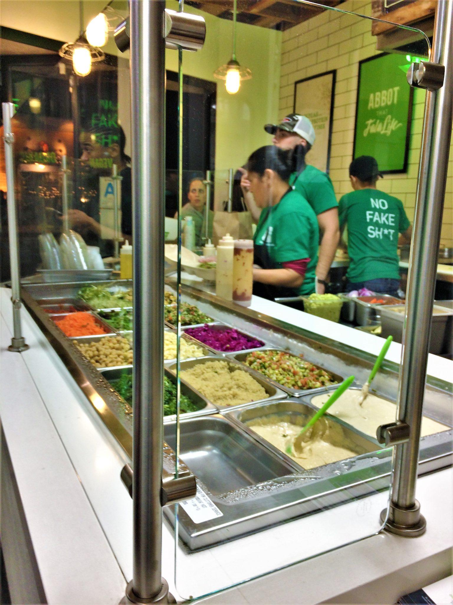 Fala Bar counter, Vegan Los Angeles