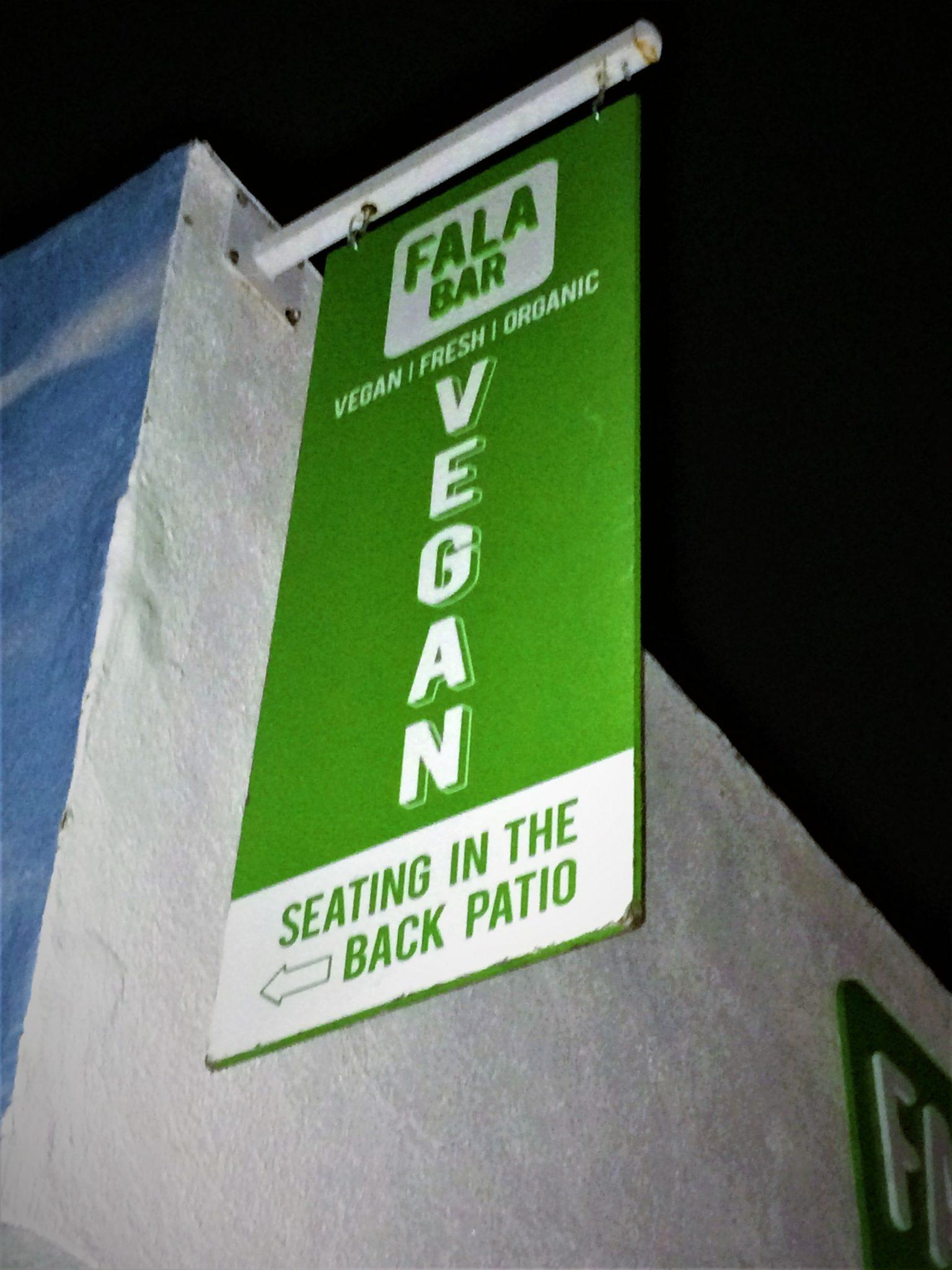 Fala Bar sign, vegan Los Angeles