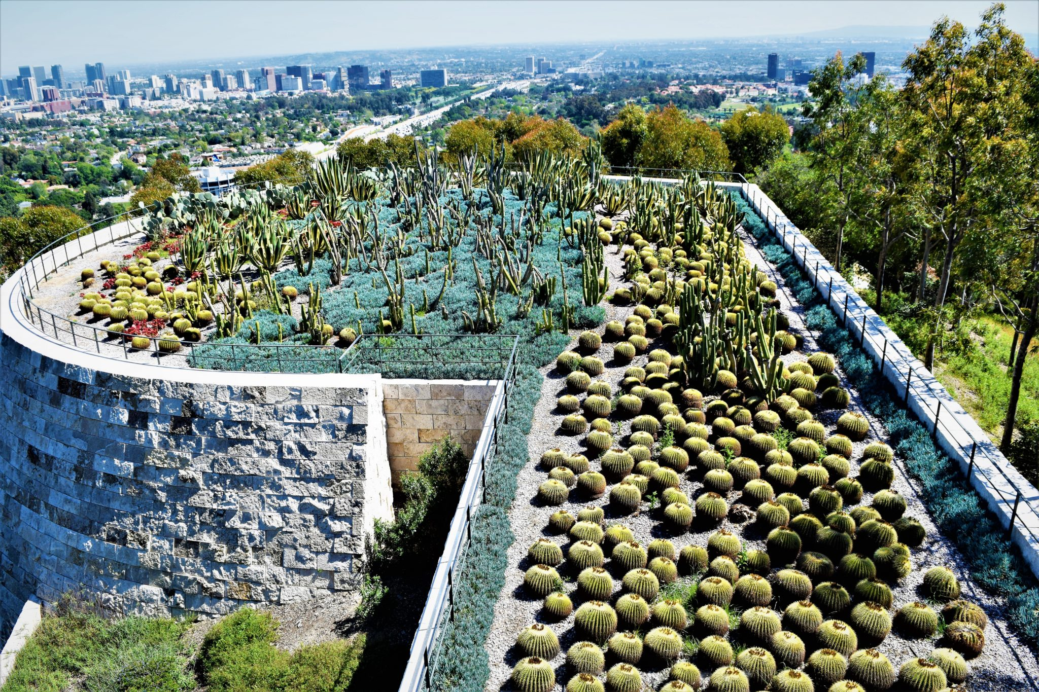 Getty Center cactus and plants, los angeles