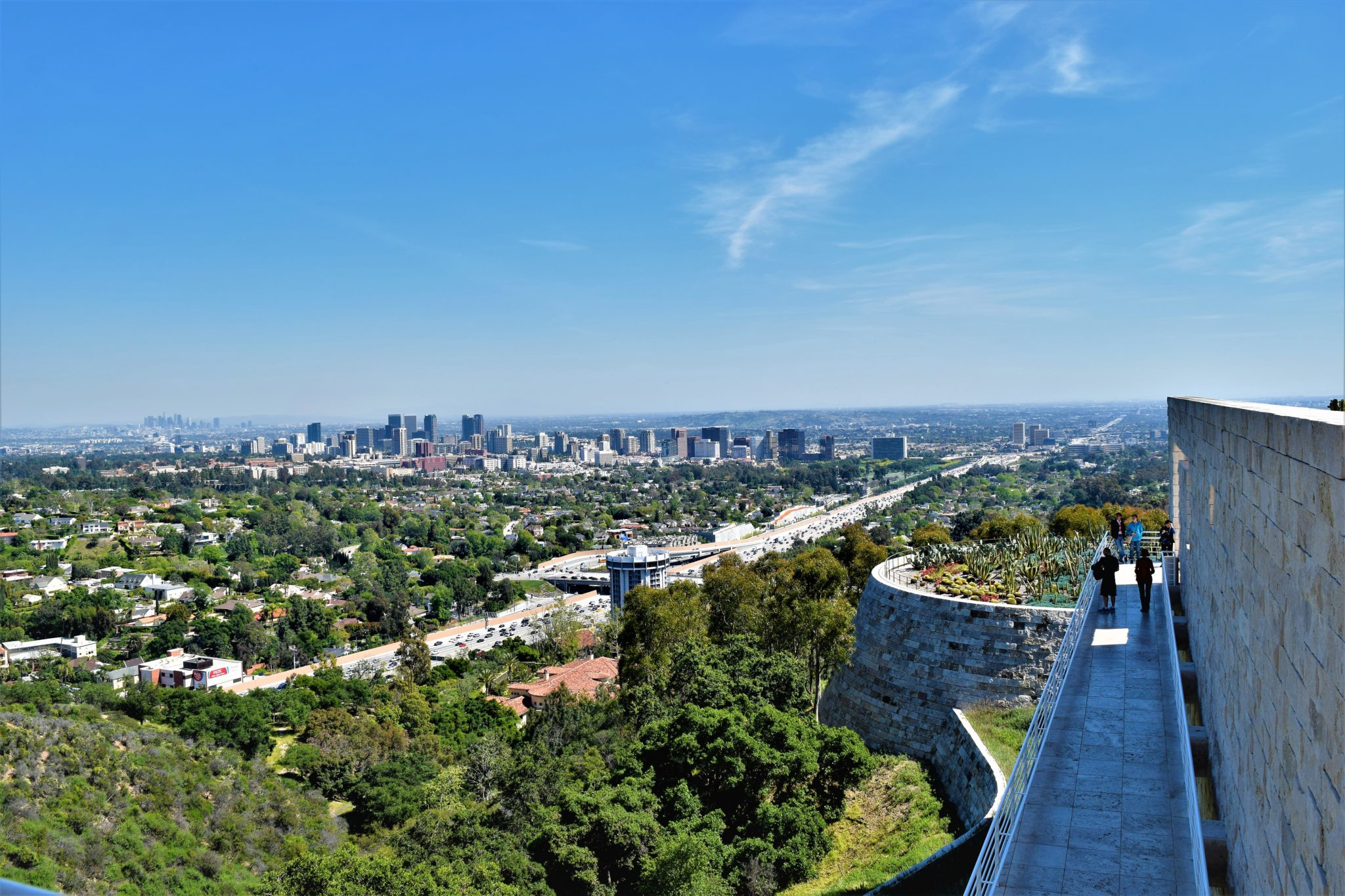 Getty Center view of los angeles, california