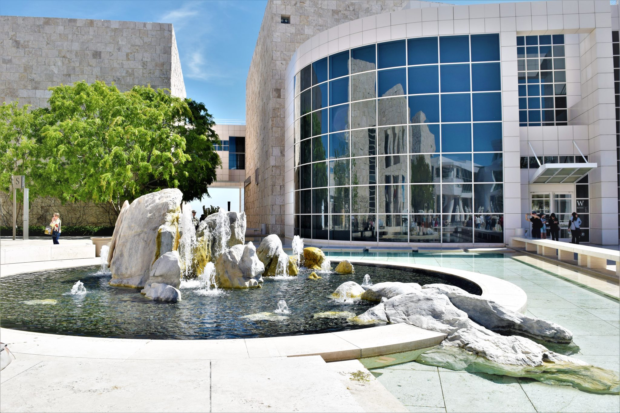 Getty Center water feature, los angeles