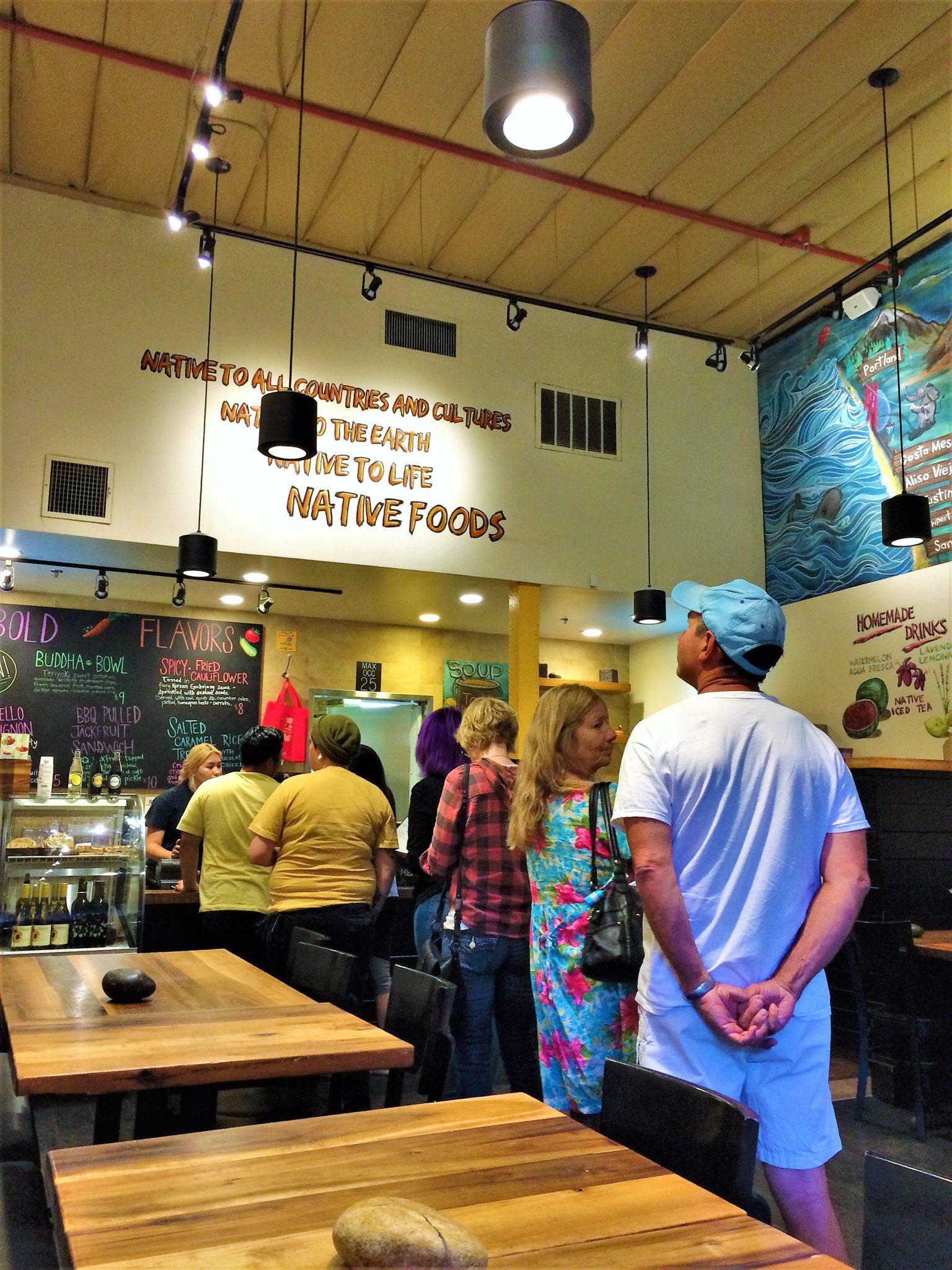 Inside Native Food Café , Palm Springs