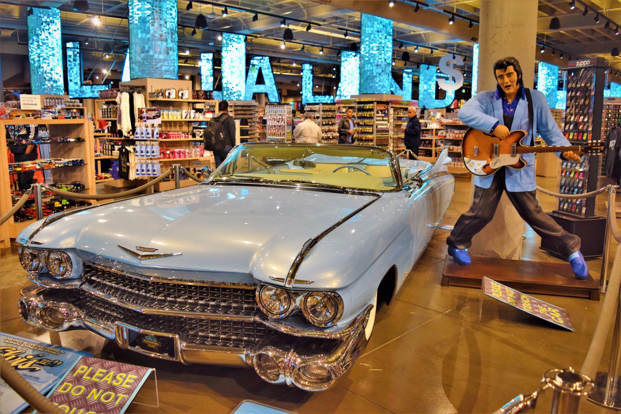La la land Elvis car, walk of fame souvenir shopw, los angeles