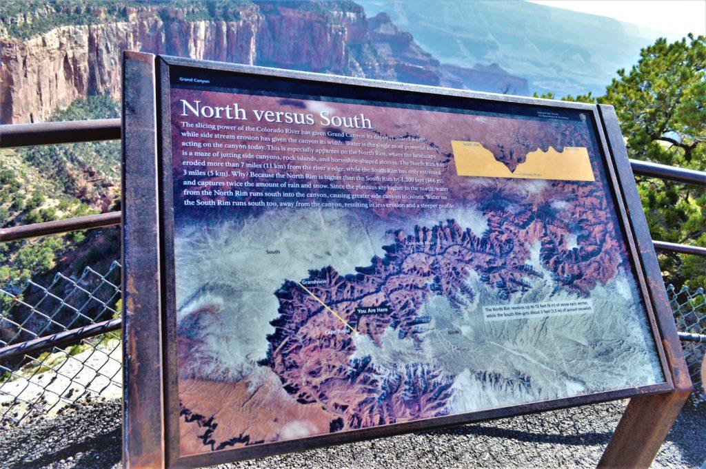 North vs South sign, Grand Canyon North Rim