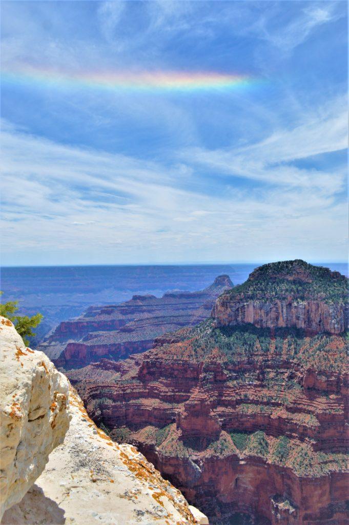 Rainbow at the Grand Canyon North Rim