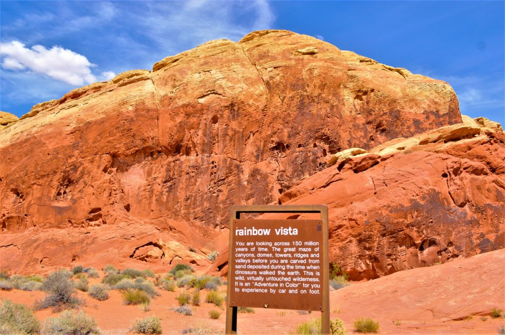 Rainbow vista, valley of fire state park, utah