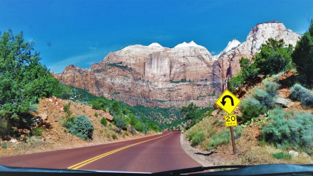 Road in Zion National Park, things to do in Zion, Utah