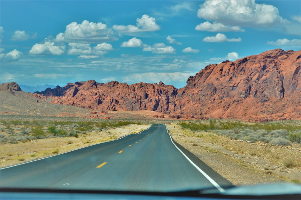 Road through the valley of fire state park, utah, usa