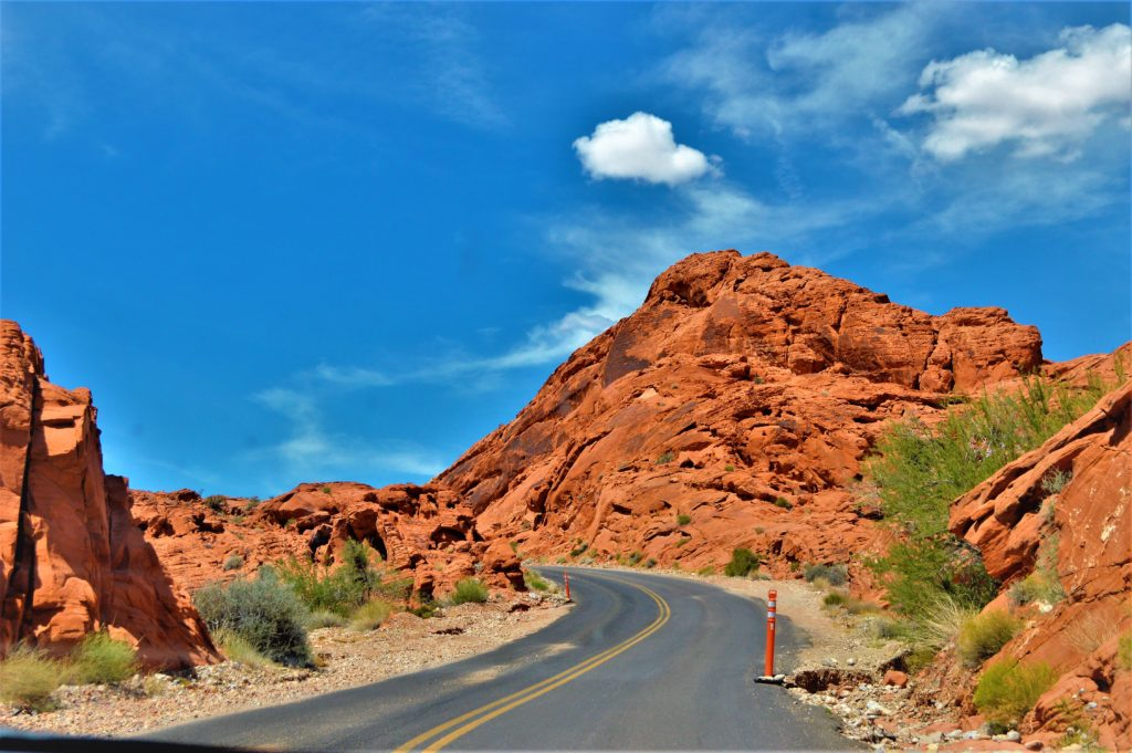 Road trip in the valley of fire state park, utah