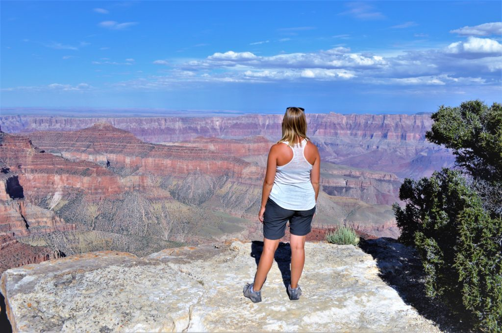 Standing in front of the Grand Canyon North Rim
