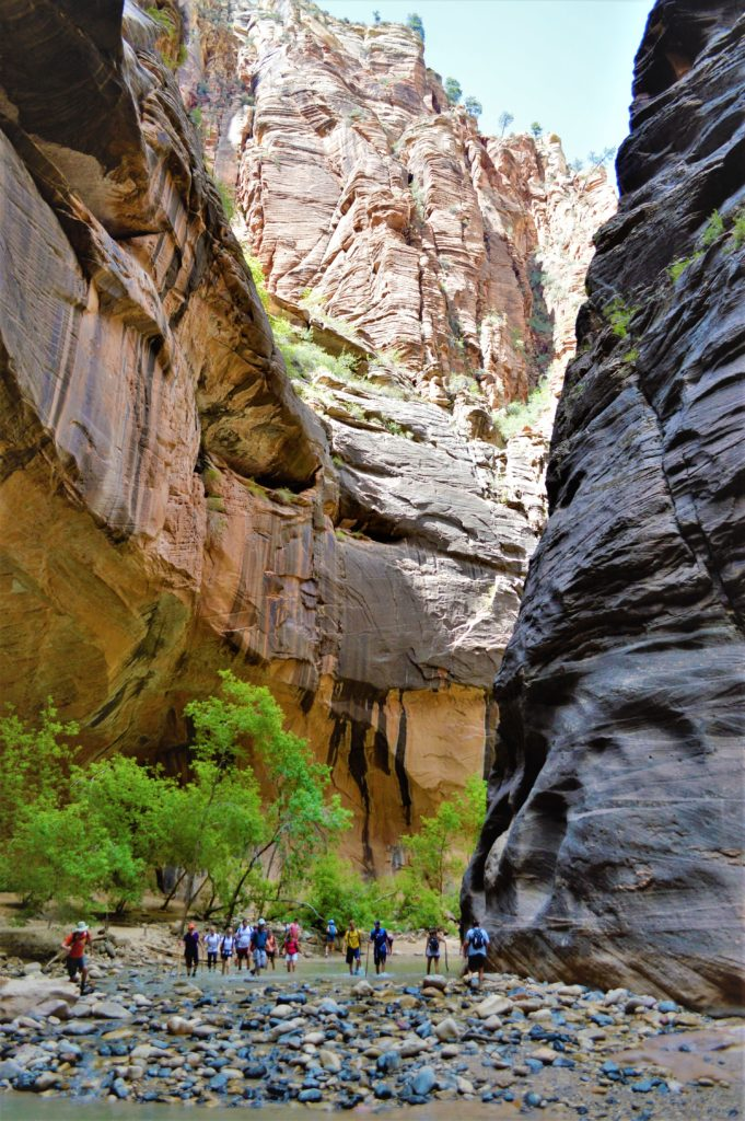 Start of the Zion Narrows Hike