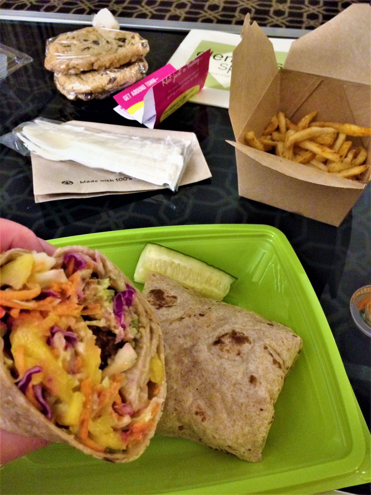 Take away burrito, Native food cafe, Palm Springs, California