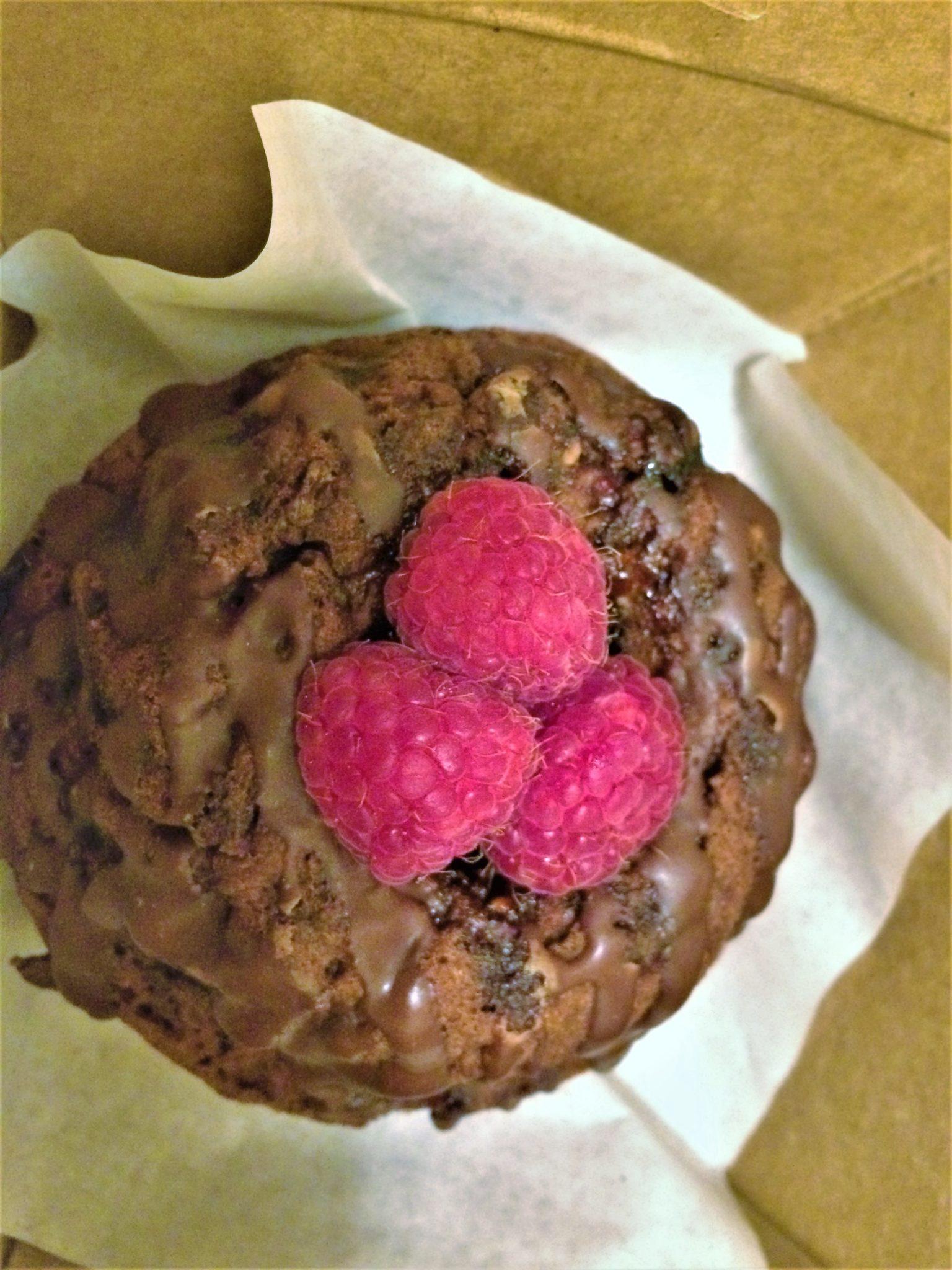 Take away chocolate raspberry cake, Native Food Cafe, Palm Springs, California