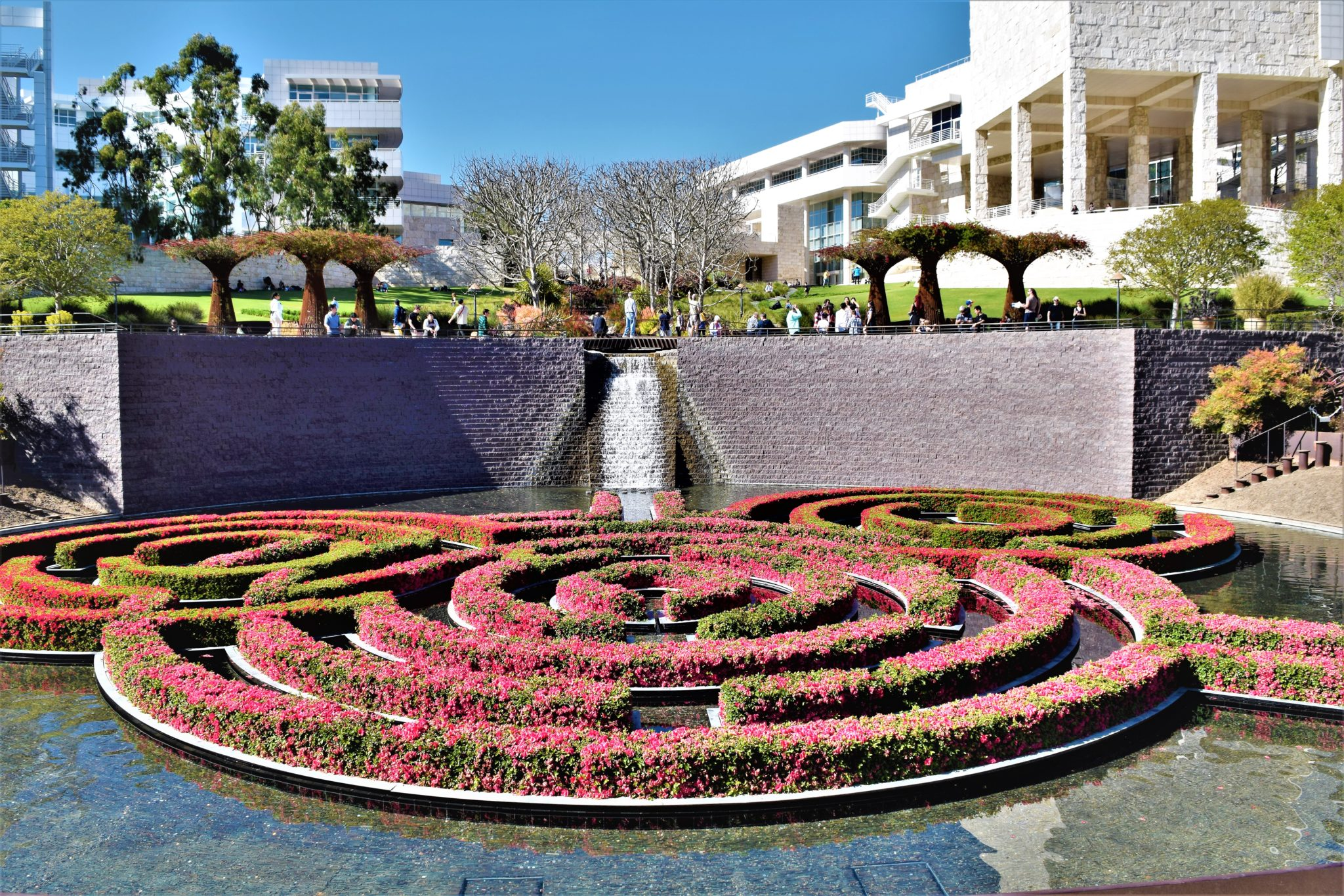 The Getty Center gardens, free things to do in los angeles