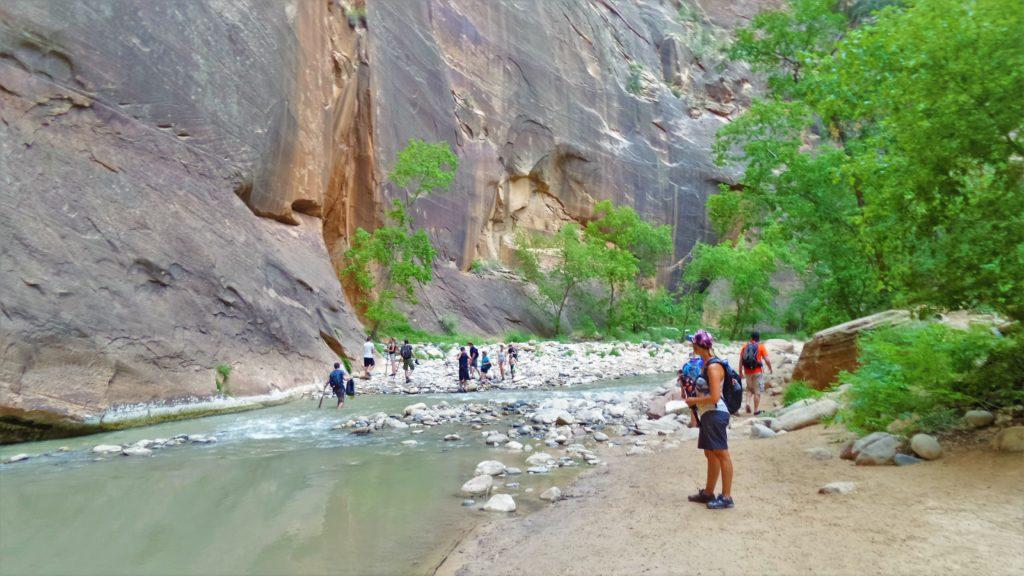 Utah zion narrows hike