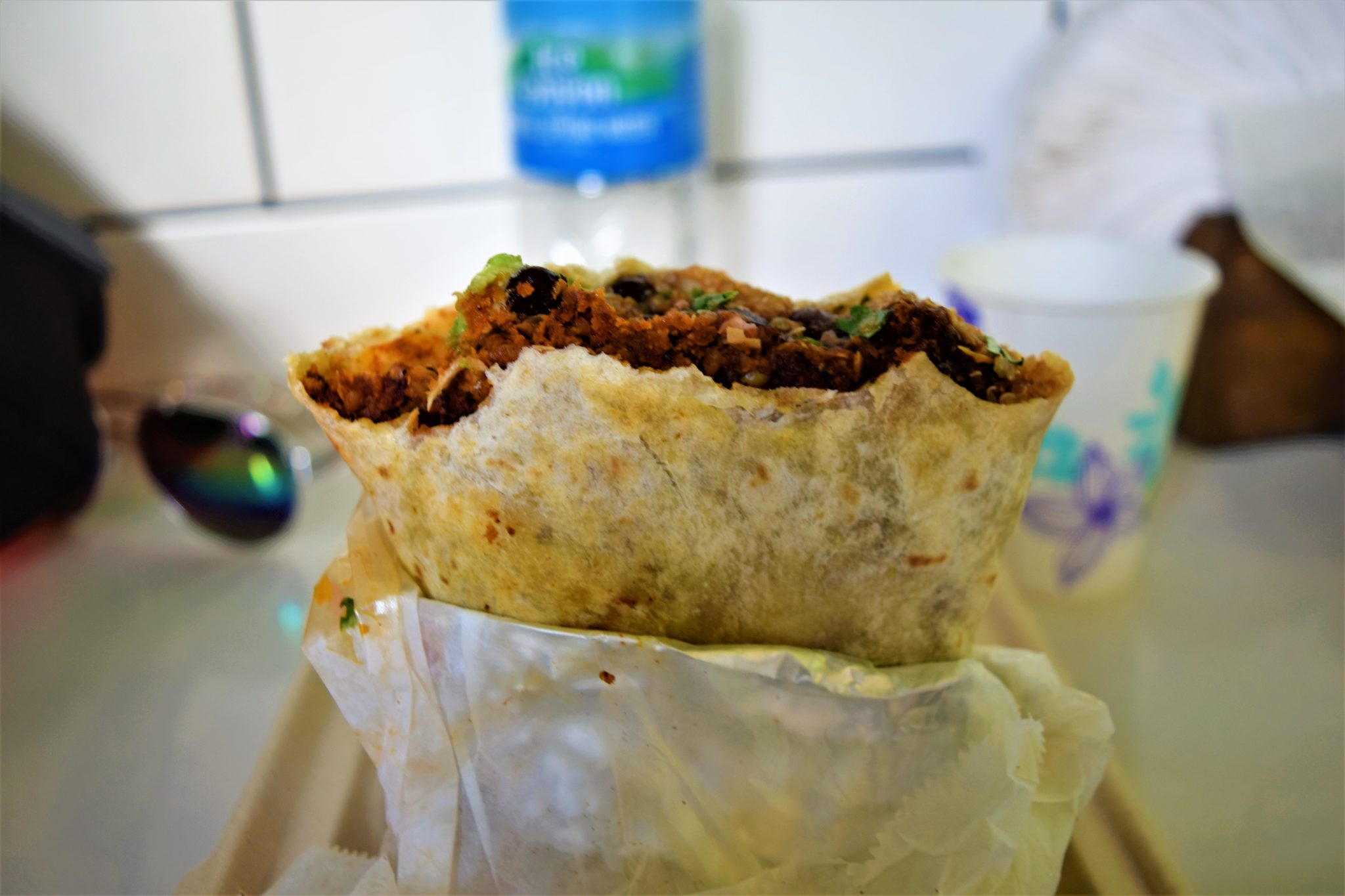 Vegan burrito, Fala Bar, Los Angeles
