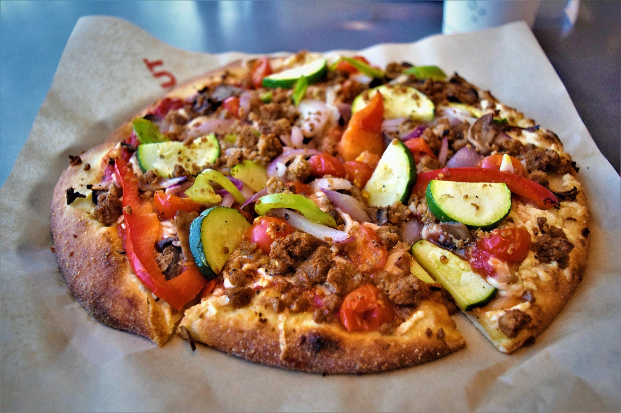 Vegan pizza, the berkley at zpizza los angeles vegan food in los angeles