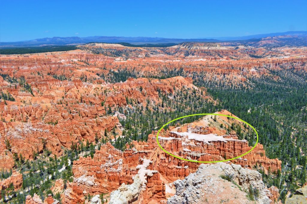 View-of-Bryce-Canyon Alligator rock-from-Bryce-Point-USA