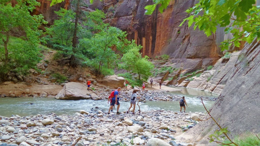 Zion narrows hike in utah