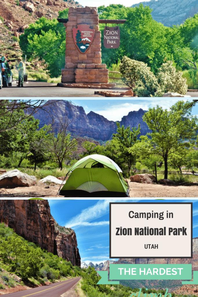 Camping in Zion National Park, Utah, Pinterest